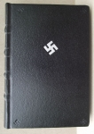 Black Marroco Leather Journal With Cross Of Laima By Alfreds Stinkuls