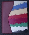 Journal With Stripes Of Various Colors By Inta Žagata