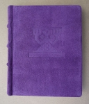 Violet Suede Diary With Three Phases Of The Moon By Alfreds Stinkuls