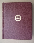 Brown Leather Diary With Banner Of Peace By Alfreds Stinkuls