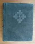 Green Suede Diary With Cross Of Māra By Alfrēds  Stinkuls