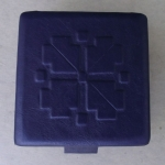 Dark Violet Leather Jewelry Box By Inta