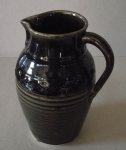 Large Dark Brown Pitcher By Sarma Abele (Ozoliņa)