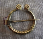 Bronze brooch-sakta  replica of the 11th century Zemgale by Māris Braže  diameter 2 1/2""