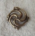 Bronze Pin With Serpent Snakes By Marius Būda  &  Aurimas Lemežis