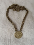 Bronze Necklace With Cross Of Laima By Rimantas Ordinas