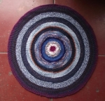 Circle Carpet In Blue By Nīna Atvara