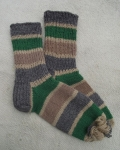Female Wool Socks With Stripes By Agafija Stinkure