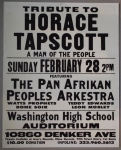 Jazz Poster: Tribute To Horace Tapscott